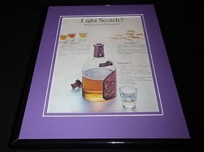 1963 Chivas Regal 12 Yr Old Whiskey Framed ORIGINAL Vintage Advertisement
