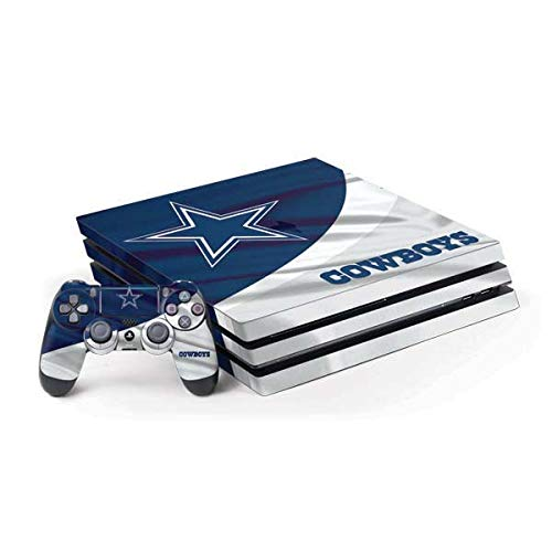 Skinit Decal Gaming Skin for PS4 Pro Console and Controller Bundle - Officially Licensed NFL Dallas Cowboys Design