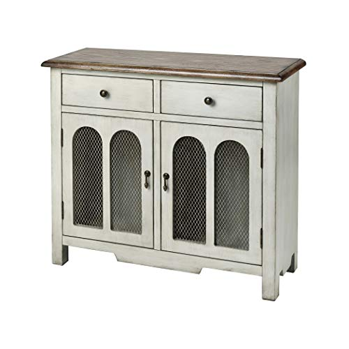 (Cabinet in Antique White and Brown)