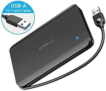 ineo Caja de carcasa de disco duro externo de aluminio USB 3.0 para Caddy SSD HDD SATA de 2,5 pulgadas de 9,5 mm y 7 mm [T2585]: Amazon.es: Electrónica