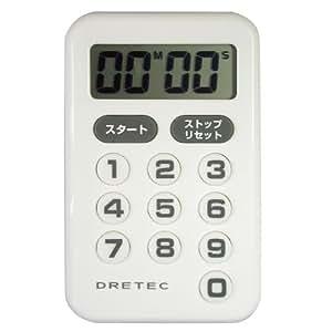 """DRETEC 10 key timer """"Shinputi"""" white T-181WT"""