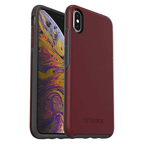 Trendy Edge Fine (OtterBox SYMMETRY SERIES Case for iPhone Xs Max - Retail Packaging - FINE PORT (CORDOVAN/SLATE GREY))