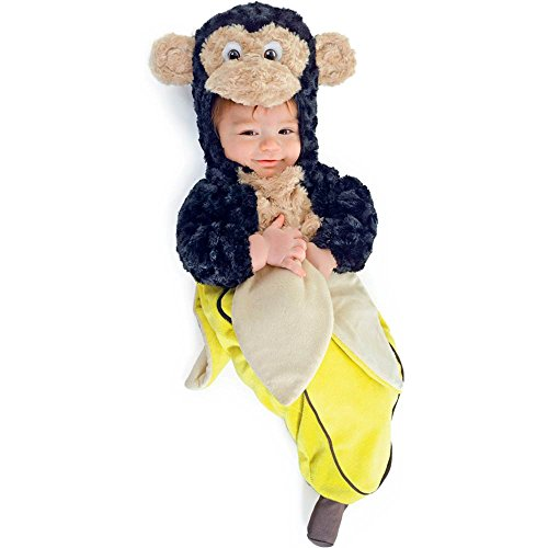 Underwraps Infant Monkey in a Banana Bunting Baby Costume - Baby Animals In Costumes
