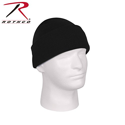 Rothco Deluxe Fine Knit Watch Cap, Black (Army Black Knit Cap)