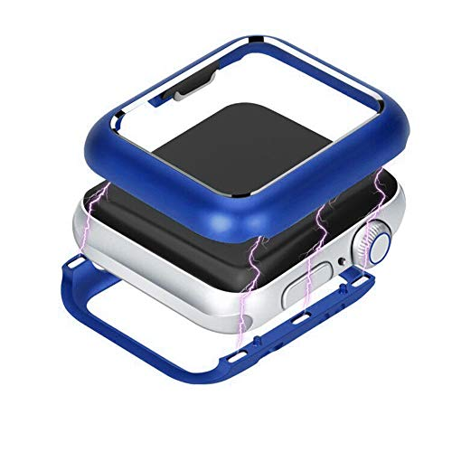 Besde Hot Cake [Magnetic Frame] Protective Cover for Apple Watch Series 4 [Full Coverage Edge Super Sturdy] Trend [Anti-Fall and Scratch] Protective Case (40mm (Save 20% Purchase 2), Blue)