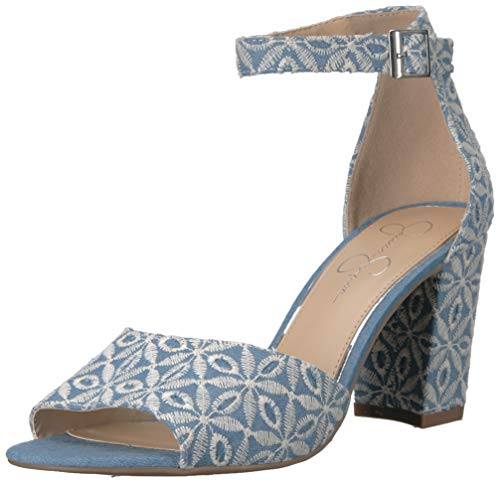 Jessica Simpson Women's Sherron Sandal, Denim Blue, 8 M US
