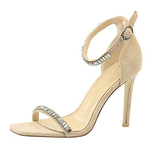 Miyoopark Para ds217 Mujer Beige De Miyooparkuk Vestir 7 Zapatos Ante qO6fvq