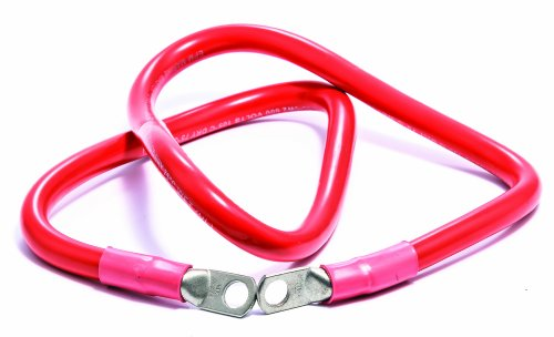 """Camco 47485 Red 3/8"""" Stud 36"""" Long 2-Gauge Marine Battery Cable and Lug Assembly Tinned"""