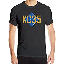 Men's KC35 Sport Quick Dry Short Sleeves T-Shirt Black US Size M