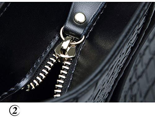 pour véritable cuir en bandoulière style de à Sacs à femmes Sacs de en cuir main luxe Grey t48SZqw