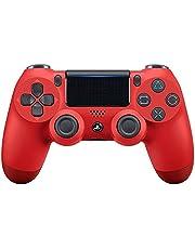 Controle joystick PS4 sem fio primeira linha - bluetooth, função de vibração dupla, conector de áudio para PS4 - Várias cores (Vermelho)