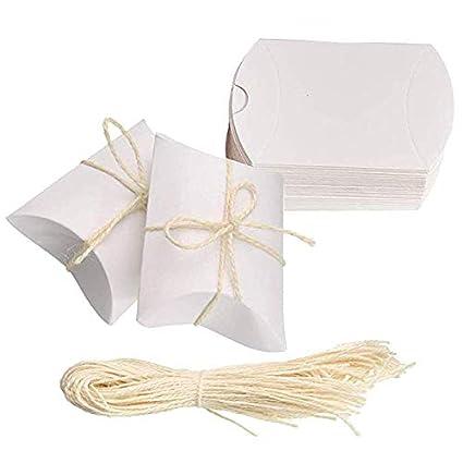 Amajoy Paquete de 50 Pequeñas cajas de almohadas de papel ...