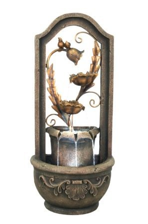 36.25''h Copper Bronze Garden Wall Fountain by Home Fashion Product