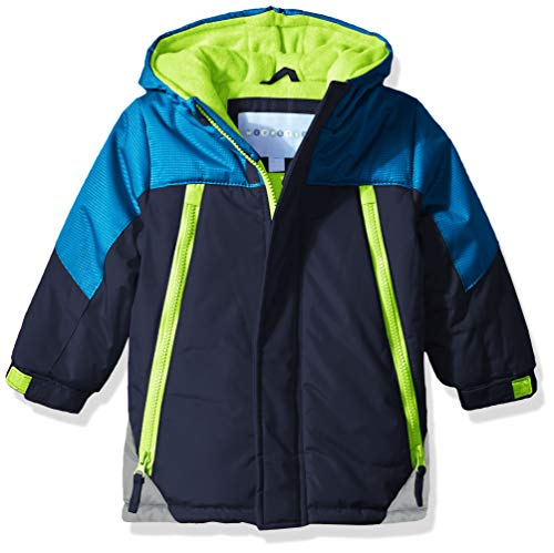 Wippette Boys' Toddler Colorblock SKI Jacket, Navy, 4T
