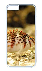 MOKSHOP Adorable Colorful fish Hard Case Protective Shell Cell Phone Cover For Apple Iphone 6 Plus (5.5 Inch) - PC White