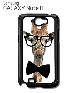Geek Giraffe Nerd Geek Bow Tie Mobile Cell Phone Case Samsung Note 2 Black