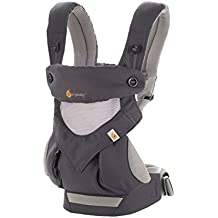Ergobaby 360 All Carry Positions Award-Winning Cool Mesh Ergonomic Baby Carrier, Carbon Grey