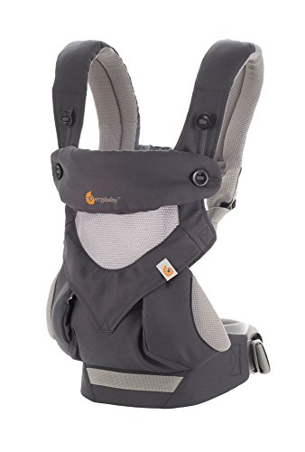 Ergobaby Carrier, 360 All Carry Positions Baby Carrier with Cool Air Mesh, Carbon Grey by Ergobaby (Image #1)