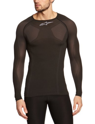 Alpinestars MTB Tech Top Long Sleeve Underwear, Small/Medium, Black