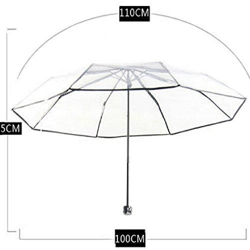 【Bahagia】透明シートで視界良好【折り畳めるビニール傘】レイングッズコンパクト傘携帯雨具【日本正規品】折り畳みビニール傘(ホワイト)