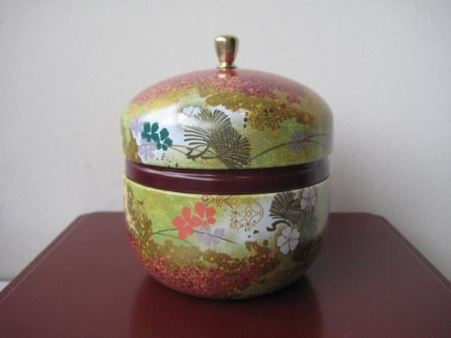 Japanese Tea Canister Suzuko - Flower (Red) only by Chado Tea House