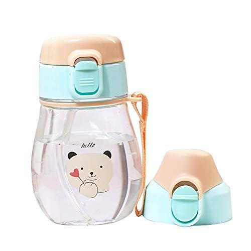 - millet16zjh Cartoon Rabbit Bear Lion Leak Water Bottle,350ml Proof Baby Kids Water Bottle with Strap Little Bear