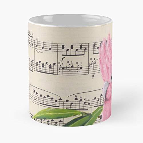 Galah Bird Music Sheet - Coffee Mugs For Holiday Days 11 Oz.