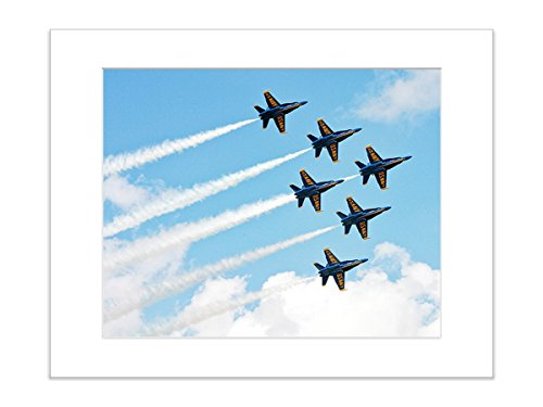 Blue Angels Military Airplane Airshow Photo, 8x10 Matted Print by Catch A Star Fine Art Photography
