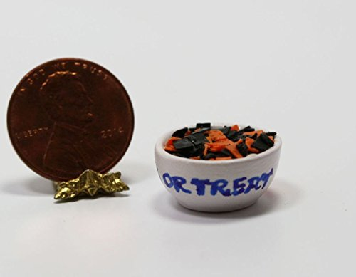 Dollhouse Miniature Bowl of Halloween Tortilla Chips by Bright Delights for $<!--$6.99-->