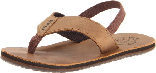 Reef Grom Leather Smoothy Sandal (Toddler/Little Kid/Big Kid),Bronze Brown,Small/Medium (13/1 M US Little - Leather Bronze Footwear