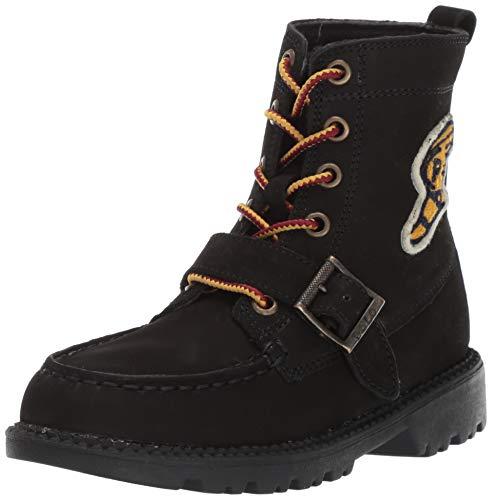Polo Ralph Lauren Kids Boys' Ranger HI II Fashion Boot Black/Yellow/Navy M055 M US Big Kid (Ralph Lauren Boots Rain)