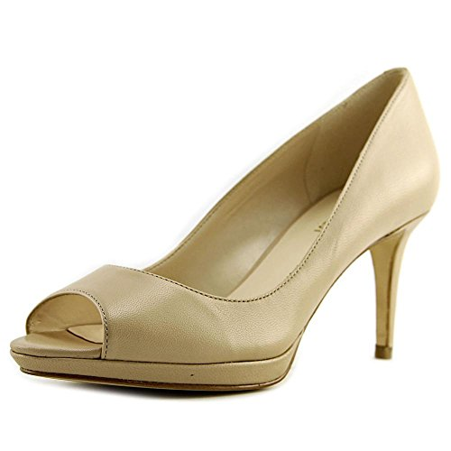 Natural Toe Peep Pumps Leather West Nine Womens Classic Gelabelle wTxfpCqZ