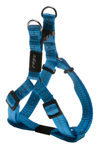 Reflective Step-in Adjustable Harness for Small Dogs; matching collar and lead available, Turquoise