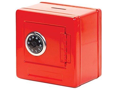 Caja de dinero Metal~~combinación movimiento doble bloqueo de código fresco en cubos rojo