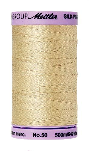 Mettler Silk-Finish Solid Cotton Thread White 547 yd//500m
