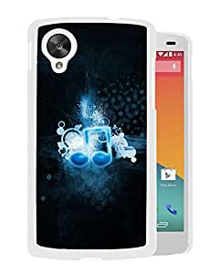 New Beautiful Custom Designed Cover Case For Google Nexus 5 With Icon Music Black (2) Phone Case