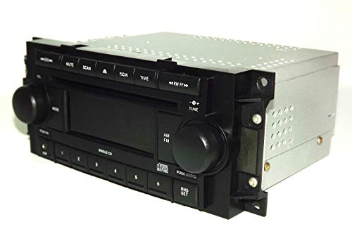 Jeep Dodge Chrysler Radio 2004-2010 AM FM CD Aux mp3 iPod Input P05064171AE REF Renewed