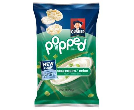 Quaker, Popped!, Sour Cream & Onion, 3.03oz Bag (Pack of 4)