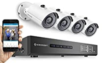 Amcrest Full-HD 1080P 4CH Video Security System - Four 1920TVL 2.1-Megapixel Weatherproof IP67 Bullet Cameras, 65ft IR LED Night Vision, 2TB HDD, HD Over Analog/BNC, Smartphone View (White)