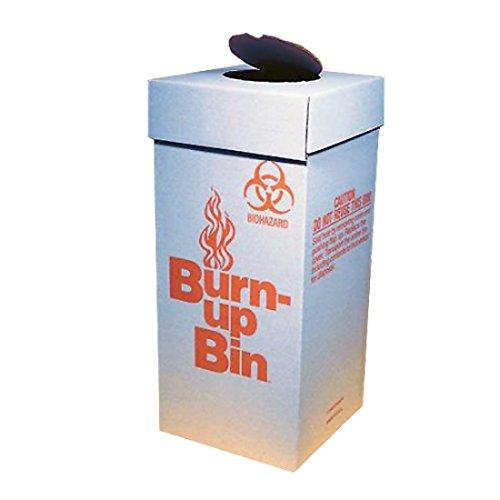 Fisher Scientific 12-009-8A Cardboard Paper Burn-up Bin Biohazard Waste Boxes, Floor Model, 12'' Length x 12'' Width x 27'' Height (30 cm x 30 cm x 69 cm) (Pack of 6)