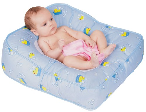 Leachco Flipper 2-Way Baby Bather, Blue Ducks