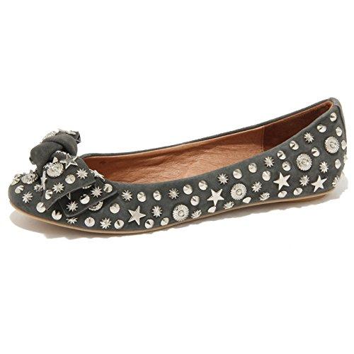 76199 ballerina JEFFREY CAMPBELL HALEY STARS VINTAGE BORCHIE scarpa donna shoes grigio scuro