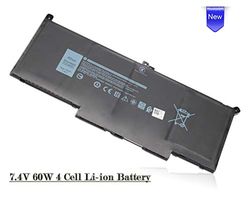 VUOHOEG F3YGT Laptop/Notebook Battery for Dell Latitude 12 7000 7280 7290; 13 7000 7380 7390; 14 7000 7480 7490 Series DM3WC 0DM3WC 2X39G- 60Wh 7.6V Dell Latitude Battery Life