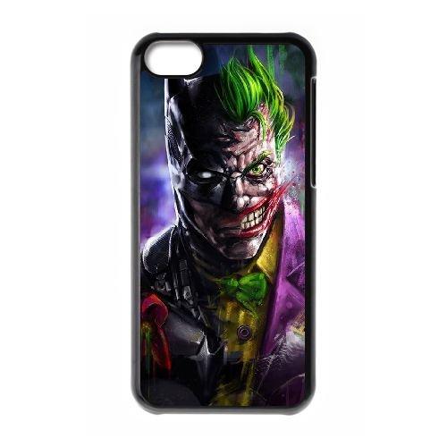 Batman Joker coque iPhone 5C Housse téléphone Noir de couverture de cas coque EBDOBCKCO09246