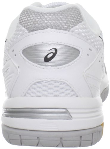 ASICS Women's GEL-Rocket 6 Volleyball Shoe,White/Silver,8.5 M US
