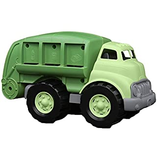 Green Toys Recycling Truck in Green Color - BPA Free, Phthalates Free Garbage Truck for Improving Gross Motor, Fine Motor Skills. Kids Play Vehicles