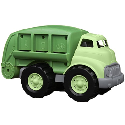Excavator Eco Truck - Green Toys Recycling Truck in Green Color - BPA Free, Phthalates Free Garbage Truck for Improving Gross Motor, Fine Motor Skills. Kids Play Vehicles