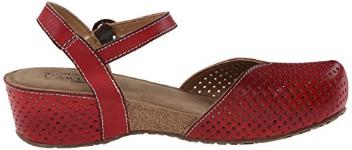 Lartiste Di Spring Step Womens Lizzie Flat Sandal Red