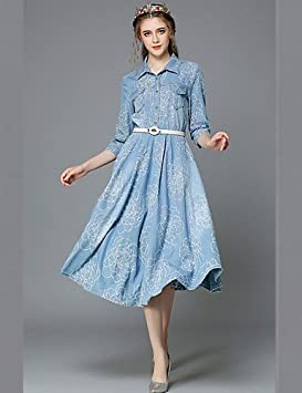 Mujer Vestidos Casual 2016 Verano Otoño Casual Estilo Vintage Plus tamaño ropa Moda mujer 3/