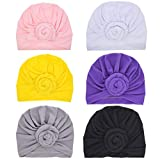 CaJaCa Newborns Cotton Hat Unisex Babys Cute Turban Knotted Hat Cap Set (NE6) Review